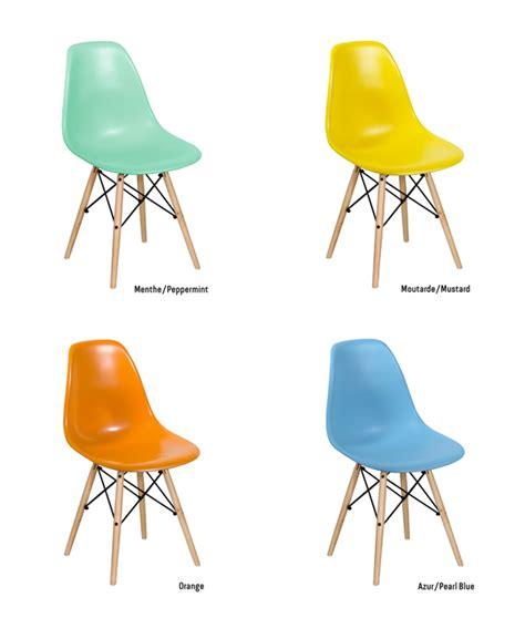 les nouvelles couleurs de la chaise dsw chez meubles et