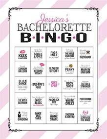 Bachelorette Bingo Template by Bachelorette Bingo Sheet Digital File Print