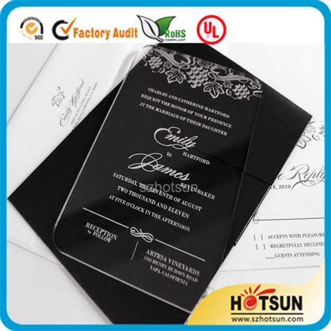 Wedding Invitation Design Price Philippines by Customized Laser Cut Acrylic Or Plexiglass Wedding