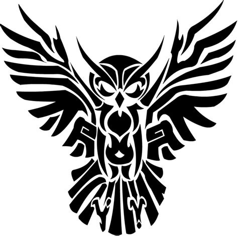 pic of tribal tattoos 11 beautiful tribal owl only tribal