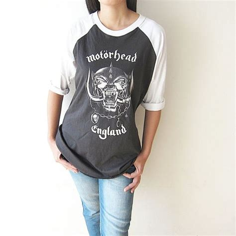 Kaos Band Motorhead Merchendise Official 01 motorhead heavy metal rock t shirt baseball tshirts raglan sleeve shirt