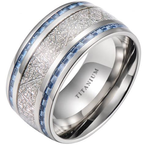 100 mens blue titanium wedding bands mens blue titanium