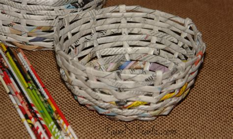 newspaper craft ideas for waste paper basket crafts for
