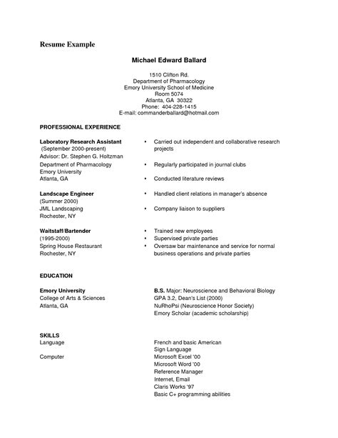 outline for a resume for exles of resumes chicago style essay sle with