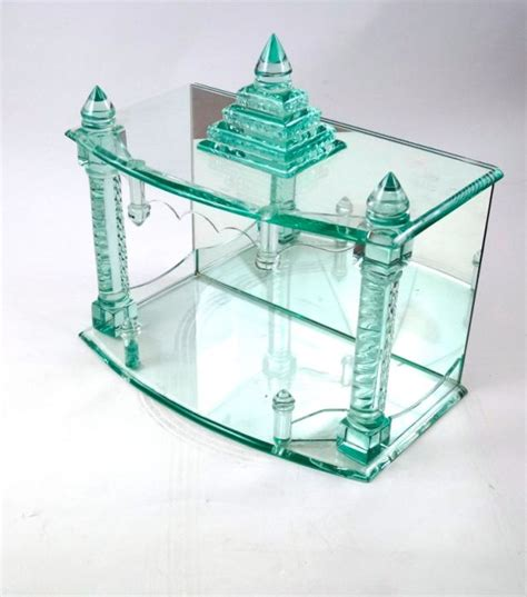 Handmade Glass - handmade glass temple and statue