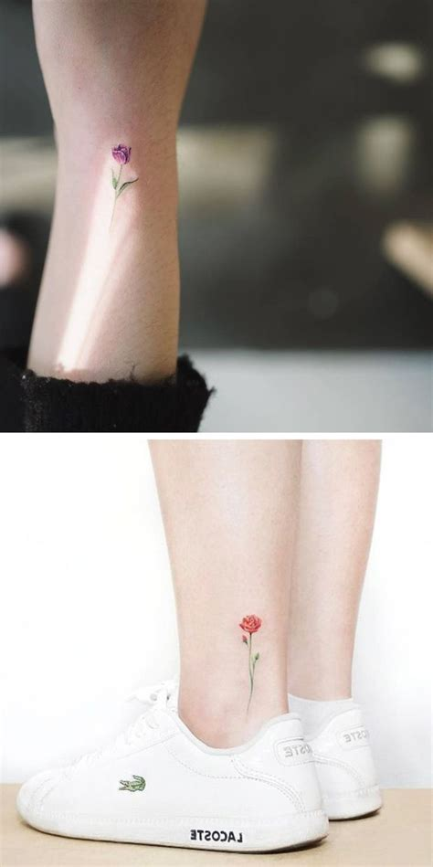 small rose tattoo on ankle best 25 ankle tattoos ideas on s