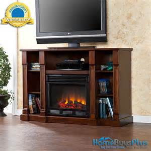 electric fireplace media center espresso storage tv stand