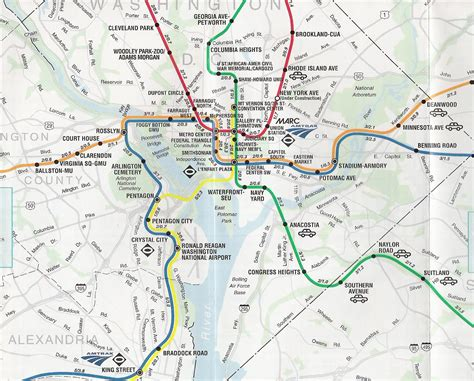 Dc Metro System Map by Dc S Subway System