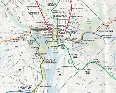 Metro Map Washington Dc by Washington Dc Map Metro