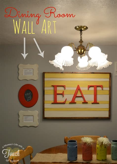 a mommy s life with a touch of yellow dining room wall