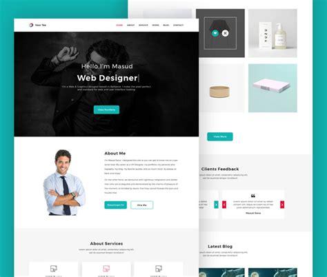 portfolio site templates free web designer personal portfolio website template psd