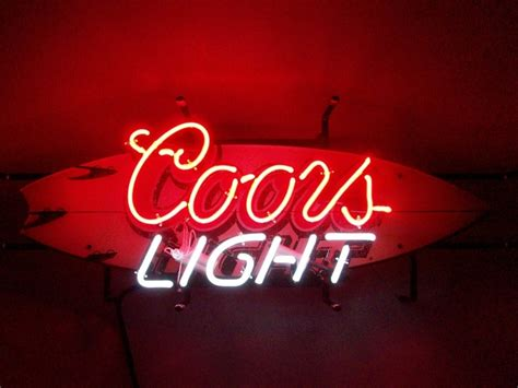 coors light bar sign coors light surfboard neon sign upgrade for k s mancave