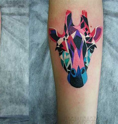 geometric zebra tattoo another giraffe tattoo idea tattoos pinterest