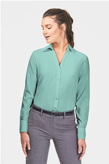 Blouse Tifany blouse ls coolstretch blue