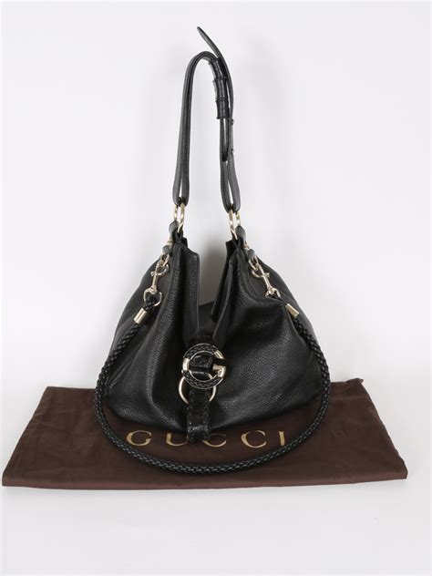 Wave Leather gucci g wave black leather bag luxury bags