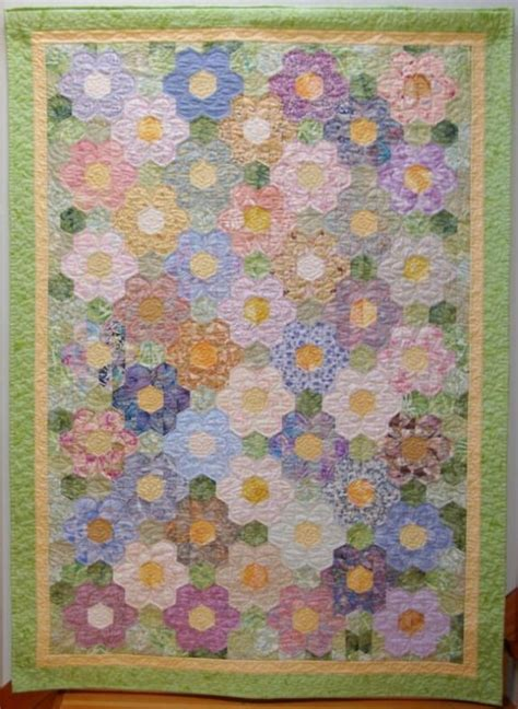 Easy Flower Pattern For Quilts Wanted To Construct The Grandmothers Flower Garden Quilt Pattern