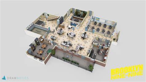 Veterinary Clinic Floor Plans famous tv shows brought to life with 3d plans drawbotics