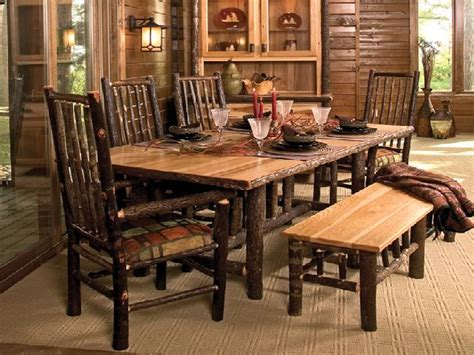 Rustic dining room tables with bench dining room tables guides
