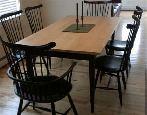 Handmade Dining Room Table - handmade custom tiger maple shaker dining table from vermont