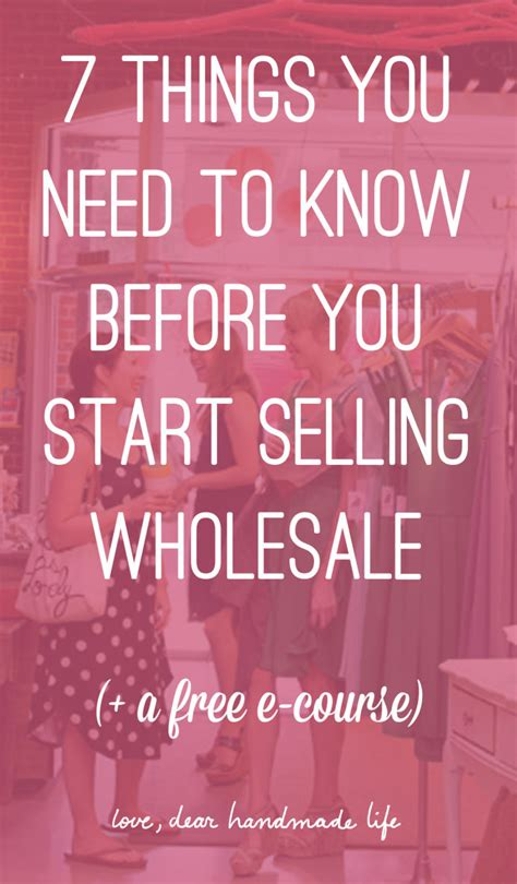 How To Start Selling Handmade Items - 7 tips to help you get your products into shops dear