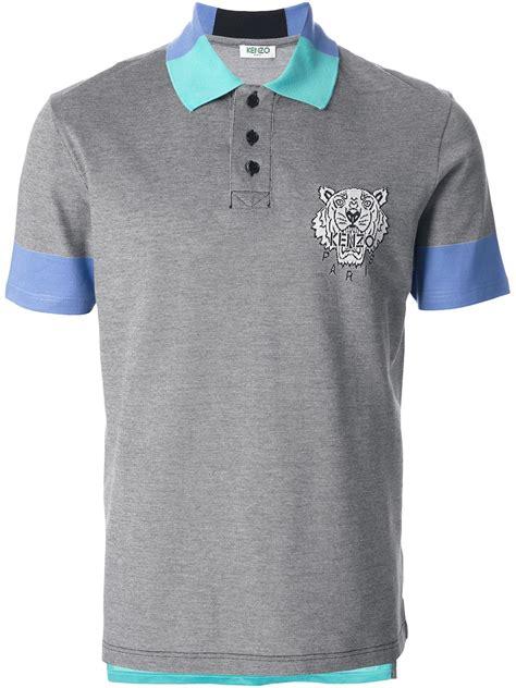 Polo Shirt Kenzo Premium kenzo classic polo shirt in gray for lyst