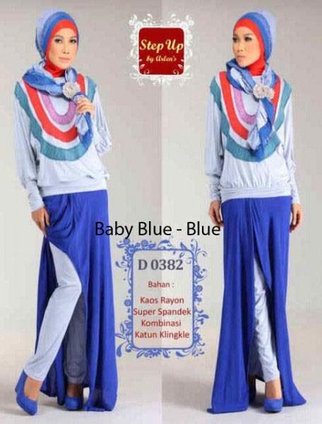 Baju Gamis Warna Baby Blue step up lisha baby blue baju muslim gamis modern