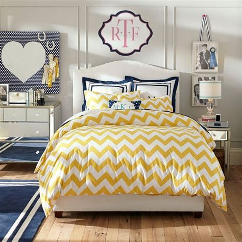 yellow chevron bedding chevron duvet cover sham yellow pbteen l s big girl