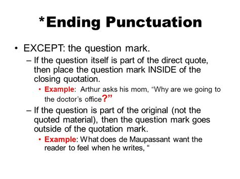 do you always put end punctuation inside quotation marks integrating quotes in your essays ppt video online download