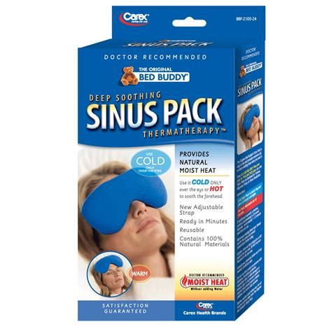 bed buddy sinus pack carex bed buddy hot and cold sinus pack heat therapy hot