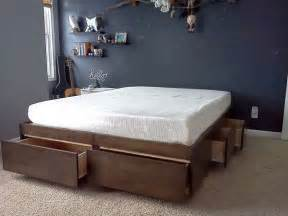 Platform Bed With Storage Tutorial 10 Smart Diy Storage Bed Design Ideas