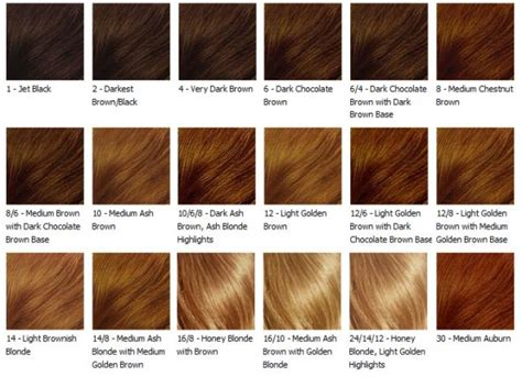 hair color dye chart hair color chart