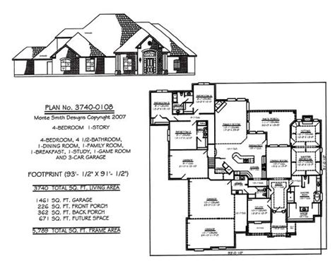 4 Story House Plans 4 Bedroom House Plans One Story Studio Design