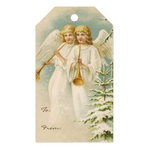 old fashioned christmas angels gift tags zazzle
