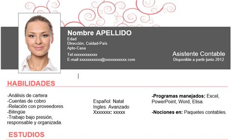 Plantillas De Curriculum Vitae Para Artistas Plantillas Curr 237 Culum Vitae Gratis Madridempleo Es
