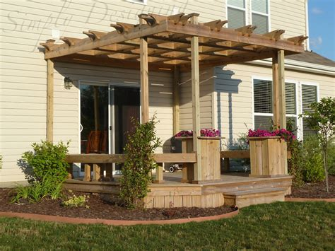 pergola with deck deck and pergola