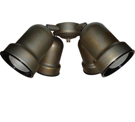 ceiling fan with adjustable spotlights 463 spotlight ceiling fan light the tropical fan company