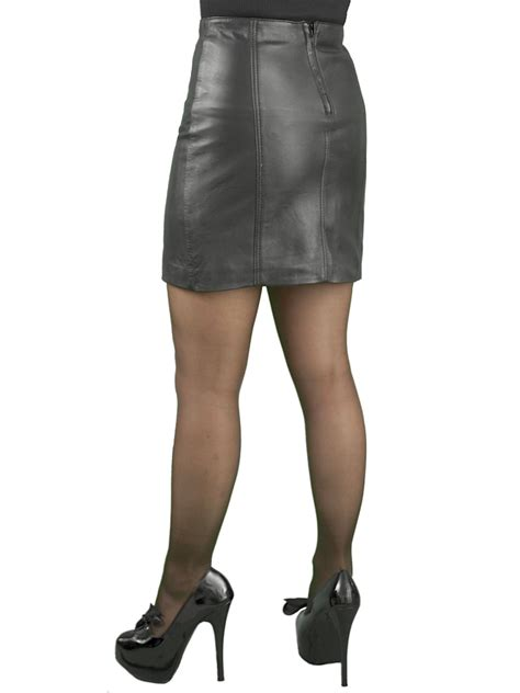 panelled leather mini skirt 16in length tout ensemble