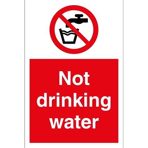 not water not water signs from key signs uk