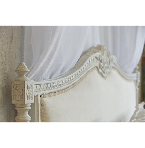 french country headboard louis xvi french country natural linen upholstered