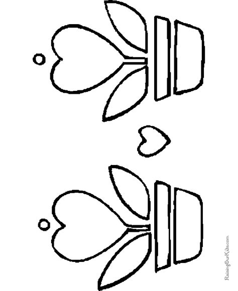 printable coloring sheets 010 printable valentine flower coloring pages 010