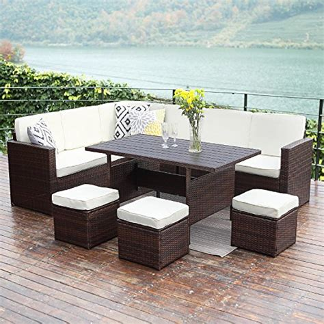 sofa sectional patio dining set 10pcs patio sectional furniture set wisteria outdoor