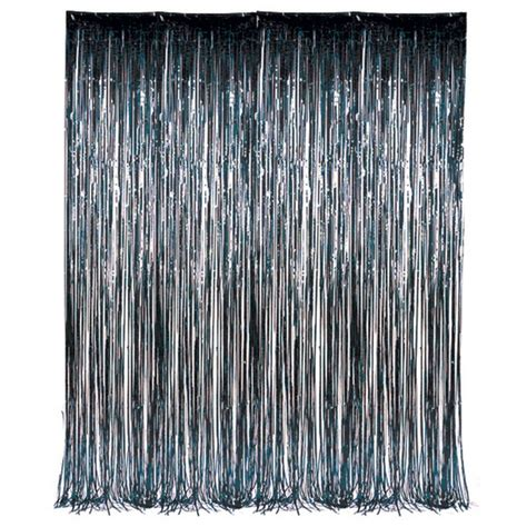 foil fringe curtains dr72350 black foil fringe curtain