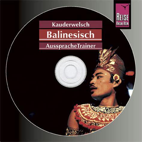 Aussprachetrainer Balinesisch Audio Cd Reise Know How