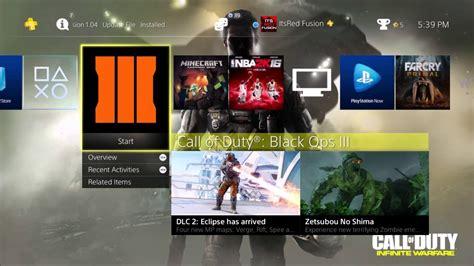 Kaset Pa4 Call Of Duty Infinite Warfare how to the quot infinite warfare ps4 theme quot call of