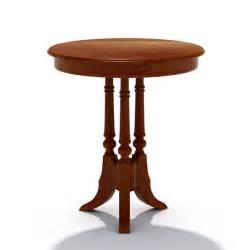 Wooden small round table 3d model cgtrader com