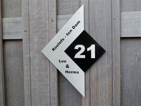 2 huisnummers aanvragen het adres voor naamborden met kwaliteit