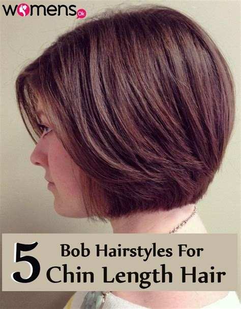 Hairstyles For Chin Length Hair by 5 Bob Hairstyles For Chin Length Hair Womensok