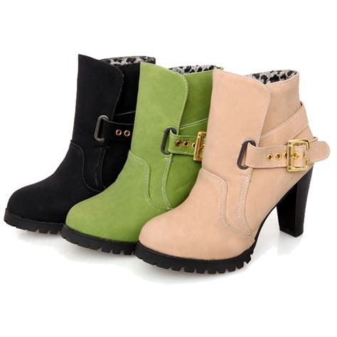 Wedges Premium Quality Big Promo Fashion Import 2 2015 new fashion ankle boots high heels style shoes high quality pu