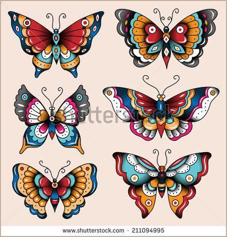 house of pain tattoo jönköping set of old school tattoo art butterflies for design and