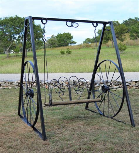 wheel swing sycamore creek creations rustic ranch style home decor